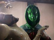 Zöldre festették a vandálok a Szűzanya-szobor arcát Jánoshalmán