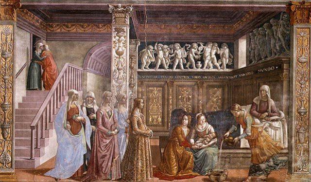 Kisboldogasszony (Domenico Ghirlandaio: Mária születése)