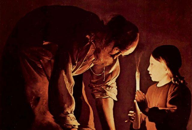 Georges de La Tour: Szent József a gyermek Jézussal