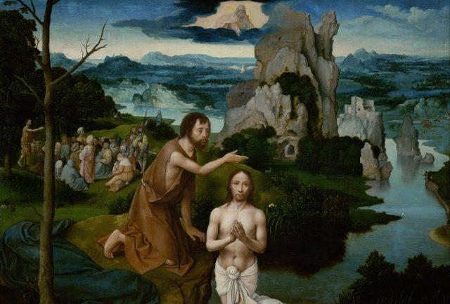Joachim Patinir: Szent János megkereszteli Jézust